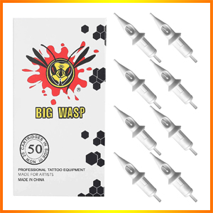 BIGWASP 50pcs Assorted Disposable Tattoo Needle Cartridges