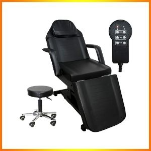 Black ink electric bed tattoo table for massage furniture