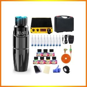 Dragonhawk rotary pen  kit along with complete tattoo package. Needles and power supply