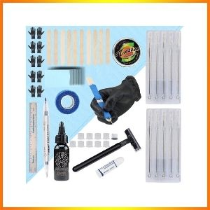 Hand tattoo poke and tattoo stick kit for clean, safe use