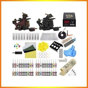 TATOO kit with power supply 40 tattoo Inks along with 20 tattoo needles