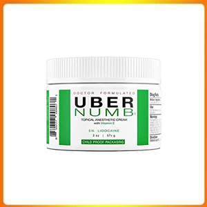 Uber Numb 5% Lidocaine Topical Numbing Cream