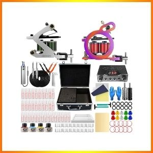 Wormhole complete case of tattoo kit , tattoo gun for beginners