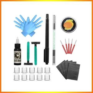 Wormhole poke and stick tattoo kit with needles clean, safe, and sound