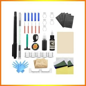 Wormhole sticks and drives tattoo kit needles with a pen for eyebrows