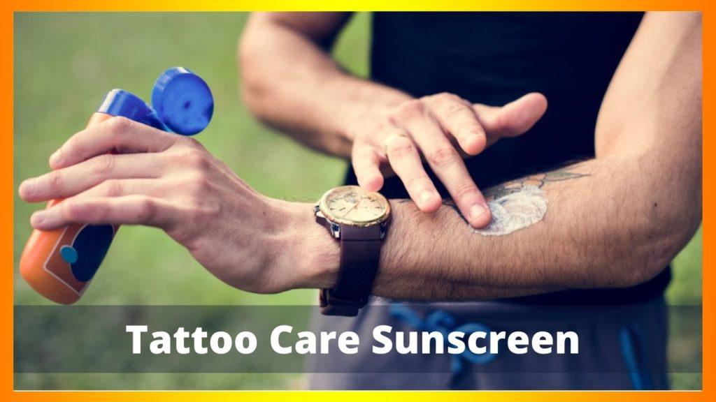 Tattoo Care Ointment Sunscreen